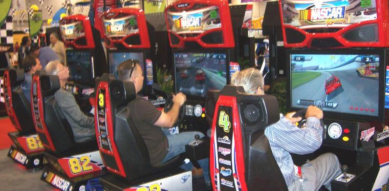 Nascar Team Racing Simulator Game Rental Video Amusement