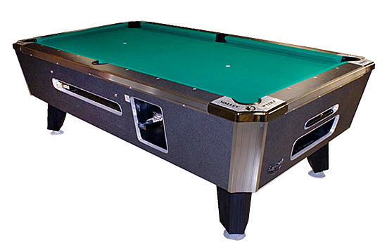 Black Cat Valley/ Dynamo Commercial Pool Table is available for rent from Video Amusement
