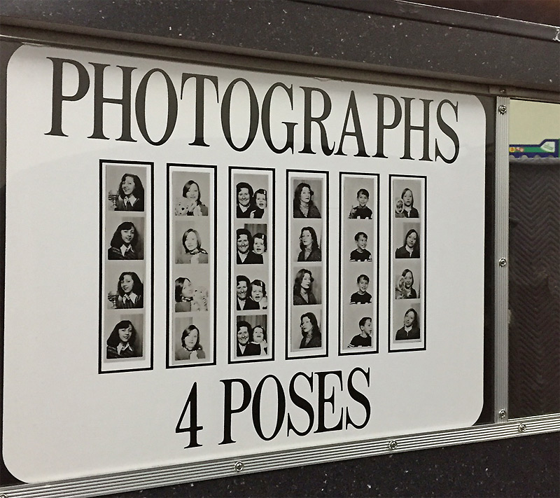Classic Photo Booth Sign: Carnival Photo Booth Rental – Name