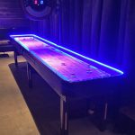 LED shuffleboard at the event