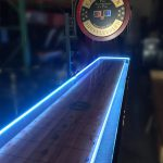 Shuffleboard with LED lights