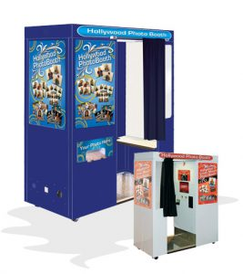 Two styles of New Hollywood photo booths are available
