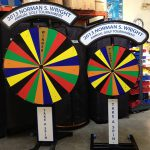 Pair fo Prize Wheels customized of an event