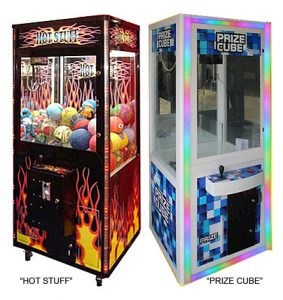 Crane Claw Machine - sample of most popular machines Carnival Games available for rent from Video Amusement