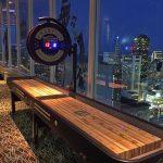 Shuffleboard on the 46th floors at Hilton SF