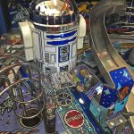 Detail of R2-D2 in the pinball game