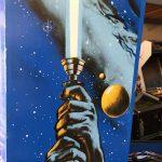 Star Wars cabinet detail