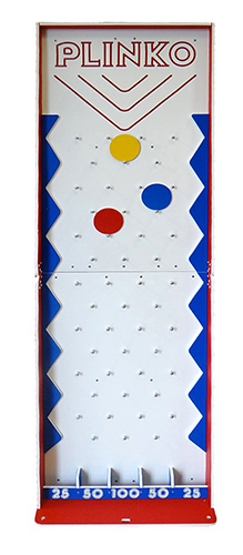Plinko Game - carnival game is available for rent from Video Amusement