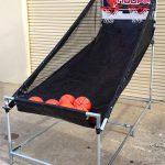 Portable electronic basketball game