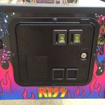 Kiss PRO pinball game cabinet from detail