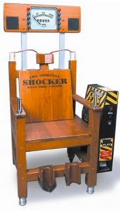 The Electric Shocker Chair the most exiting and entertaining game available for your event.