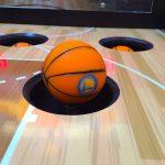 Mini basketballs inside the game