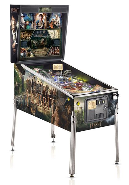 The Hobbith pinball is available for rent from Video Amusement.
