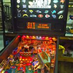 NFL pinball customized for Super Bowl 50
