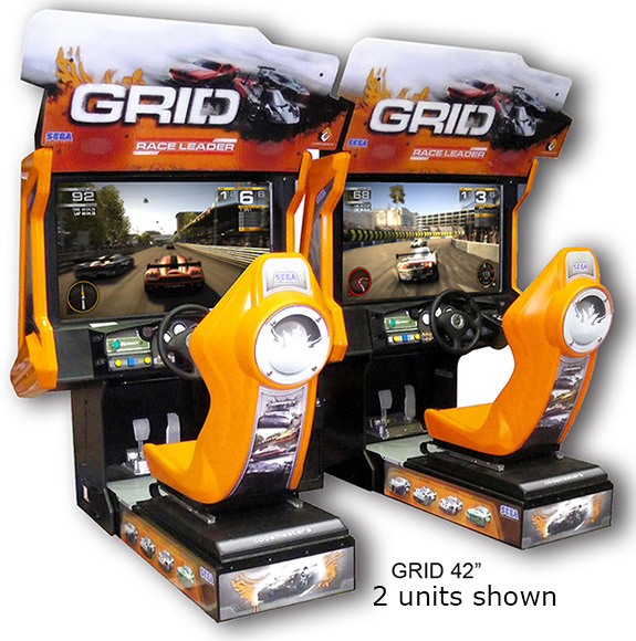 Grid racing arcade game available for rent from Video Amusement