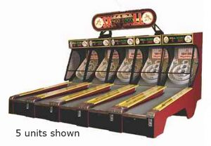 Skeeball arcade carnival game available for rent.