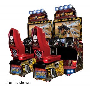 Dirty Driving arcade game is available for rent from Video Amusement.