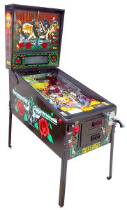 Guns N Roses pinball game is available from Video Amusement