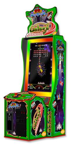New from Namco Galaga Assault arcade game