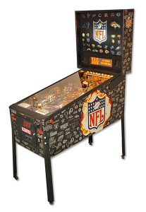 NFL pinball from Stern with custom backglass