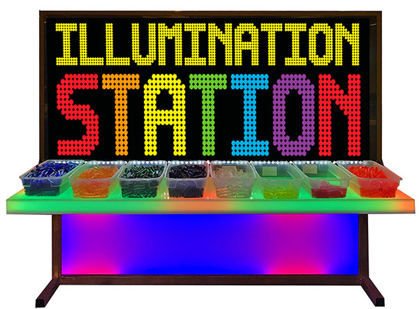 Giant Bright Lite Illumination station on a LED table