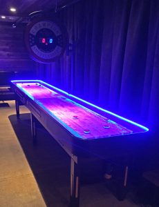Shuffleboard with LED light