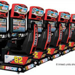 Nascar Driving 8 player rented games at event Moscone San Francisco