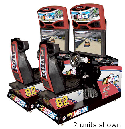 Nascar Team Racing Simulator Game rental from Video Amusement