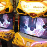 Super Bikes Motorcycle Arcade custom branding by Video Amusement