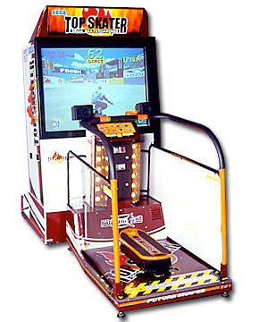 Top skater skateboarding Arcade Game rental from Video Amusement