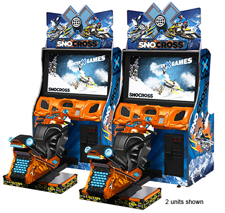 snocross snowmobile racing arcade game rental San Francisco California from Video Amusement