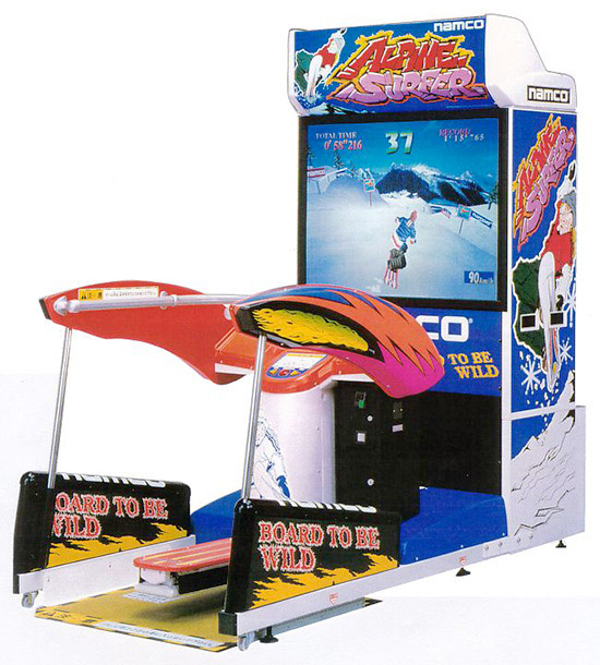Alpine Surfer Snowboarding Simulator Arcade Game Rental from Video Amusement
