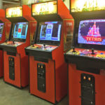 Five matching Tetris arcade games rental California available from Video Amusement
