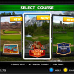 Golden Tee Golf Live 2020 Interactive Arcade Game Rental Video Amusement Screen selection