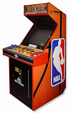 NBA Jam Arcade Basketball Game Rental San Francisco from Video Amusement