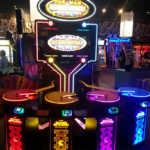 Pac Man Battle Royale DX arcade game rental with colorful LED lights from Video Amusement
