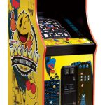 PacMan Anniversary Edition Yellow Cabinet - Classic Arcade Game from Video Amusement for rent