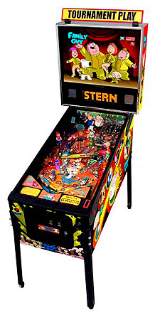 Family Guy Pinball Machine - With hysterical phrases from the Family Guy show!