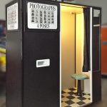 The original Model 17 photo booth retrofitted with a digital camera