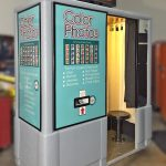 The original color Model 21 photo booth