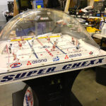 Bubble Ice Hockey game branded for rental event in San Clara Levis Stadium