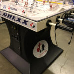 Bubble ice hockey USA vs Canada custom branding for a rental event in San Francisco from Video Amusement