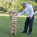 Carnival Outdoor Giant Jenga Tumbling Tower Rental at Wedding from Video Amusement
