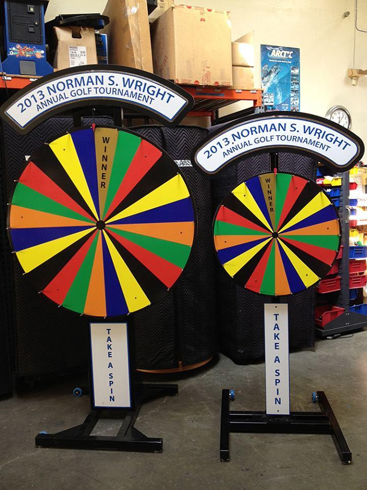 Prize Wheel Carnival Game Rental - Video Amusement San Francisco Bay