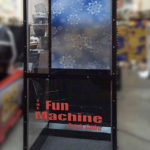Cash Blowing Money Machine with custom background for rent from Video Amusement