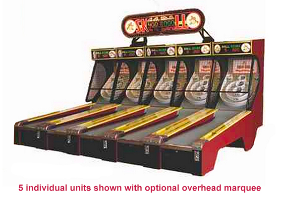 Traditional skeeball game available for rent