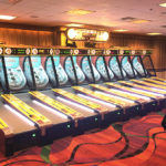 Classic Skee Ball Carnival Arcade Game Rental available from Video Amusement in San Francisco Bay Area California
