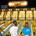 Classic Skeeball Arcade Games at the rental location Las Vegas Nevada