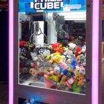 Claw Prize Cube Crane Machine ready for rental event from Video Amusement