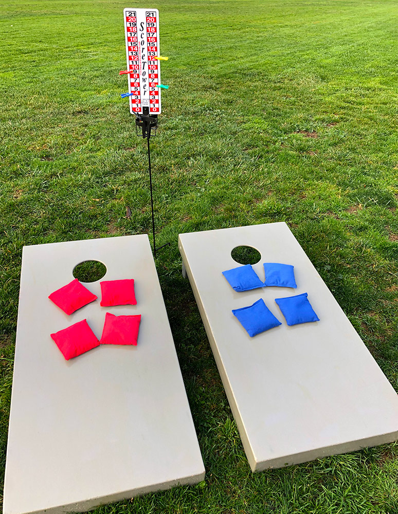 Cornhole game with counter setup from Video Amusement